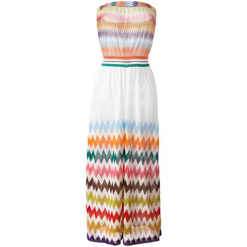 MISSONI Zig-Zag Strapless Beach Dress