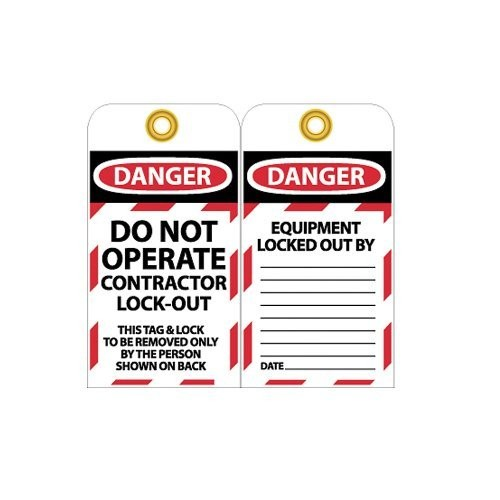 Nmc Work Specific Danger Lockout Tags - Danger Do Not Operate Contractor Lock Out