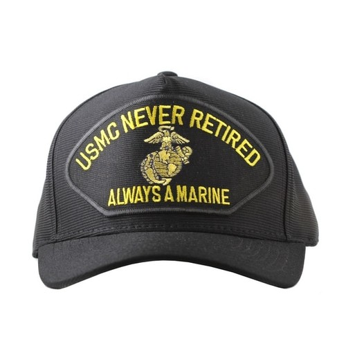 US Marine Corps Never Retired Always A Marine Cap