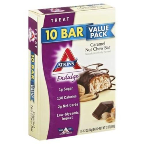 Atkins Endulge Caramel Nut Chew Bar 10-Count Value Pack Snack Bars