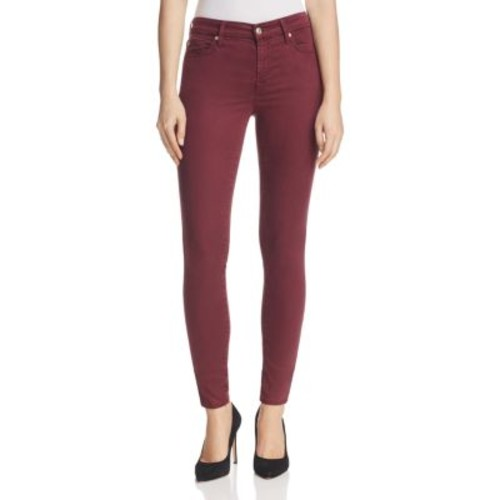 7 FOR ALL MANKIND B(Air) Skinny Ankle Jeans In Mulberry