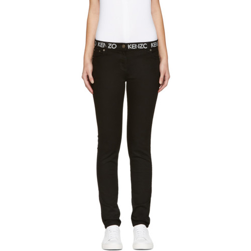 KENZO Black Super Stretch Logo Jeans