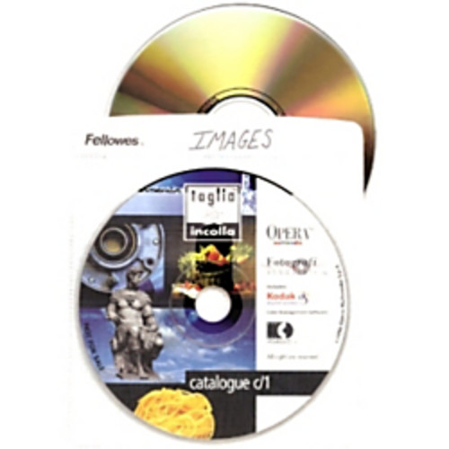 Fellowes Double-Sided CD Sleeves, Pack Of 25