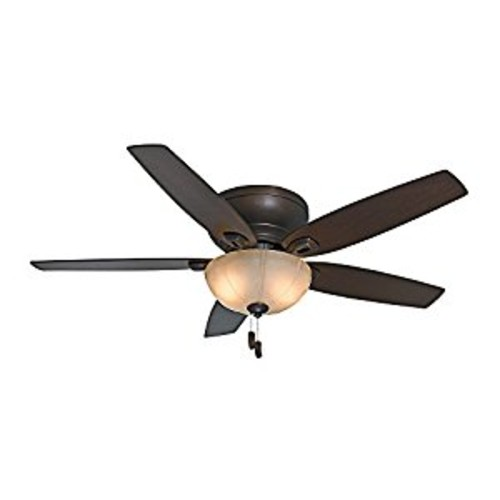Casablanca Fan Company 54102 Durant 54-Inch Maiden Bronze Ceiling Fan with Five Walnut/Smoked Walnut Blades with Light Kit [Bronze, 54-inch]