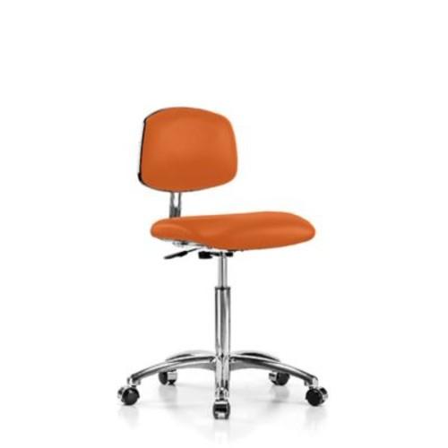Perch Chairs & Stools Low-Back Desk Chair; Orange Kist