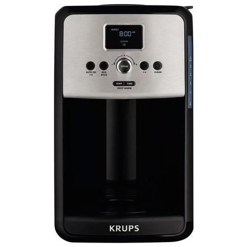 Krups - Savoy 12-Cup Coffeemaker - Black/Stainless Steel