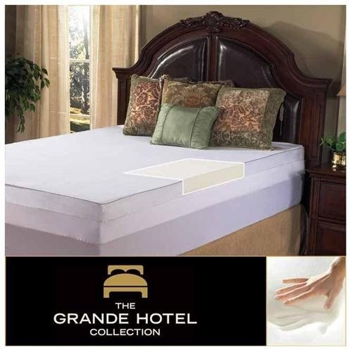 Grande Hotel Collection 4-inch Twin/ Full-size Memory Foam Mattress Topper with Egyptian Cotton Cove