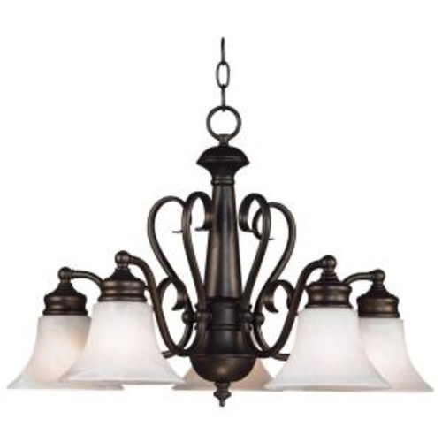 Kenroy Home Wynwood 5-Light Burnished Bronze Chandelier