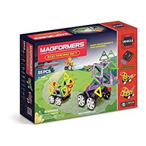 Magformers Vehicle Zoo Racing Set (55-pieces)