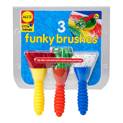 Alex Toys 3 Funky Paint Brushes
