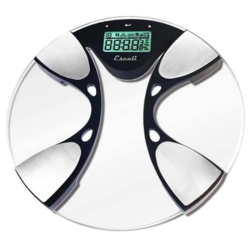 Escali Digital Glass Body Fat and Water Bathroom Scale