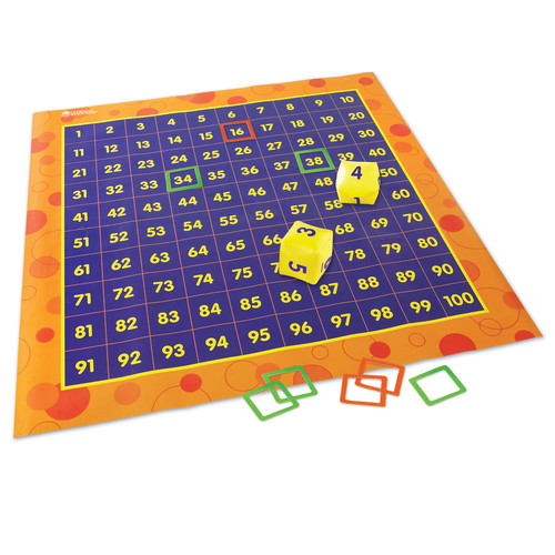Learning Resources Hip Hoppin Hundred Mat