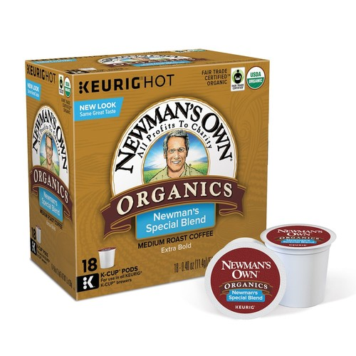 man's Own Organics Special Blend Extra Bold Coffee Keurig K-Cups, 18 Count [1]