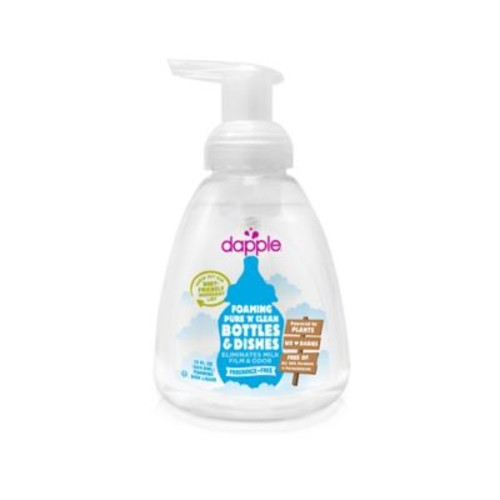 dapple 13 oz. Fragrance-Free Pure 'N' Clean Foaming Baby Bottle and Dish Liquid Cleaner