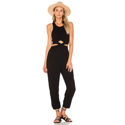 Indah Sima Jumpsuit in Black