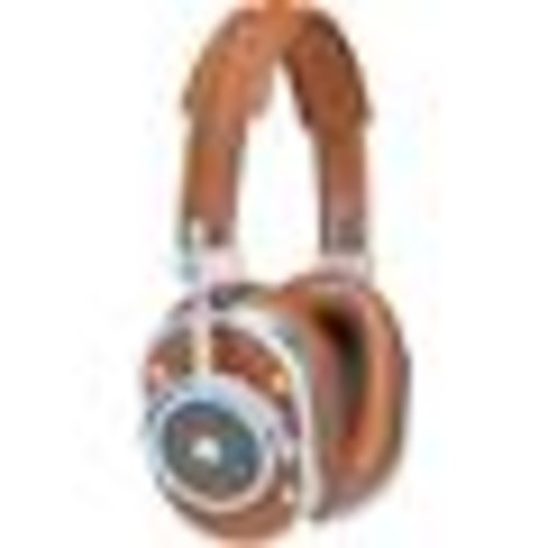 Master & Dynamic MH40 (Silver Metal/Brown Leather) Over-ear headphones with Apple remote and microphone