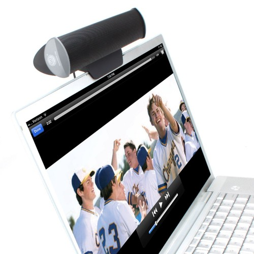 GOgroove SonaVERSE USB Clip On Soundbar Laptop Speaker with USB Plug-n-Play For Amplified Sound
