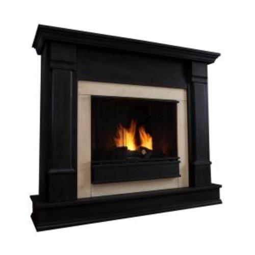 Real Flame Silverton 48 in. Gel Fuel Fireplace in Black