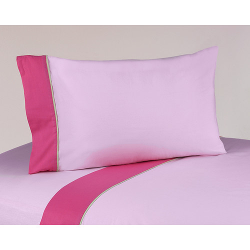 Sweet Jojo Designs Flower Pink and Green Collection Sheet Set