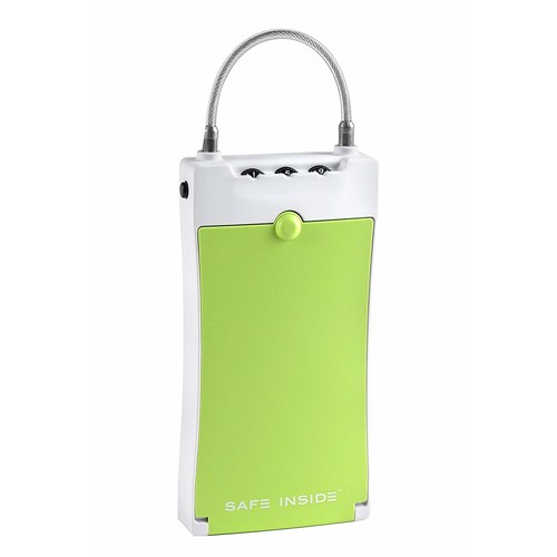 SafeInside 4500G Portable Security Case for Securing Small Items with 3-Digit Combination Lock, Green