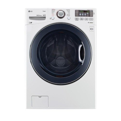 LG Electronics 4.5 cu. ft. High-Efficiency Front Load Washer with Steam and TurboWash in White, ENERGY STAR
