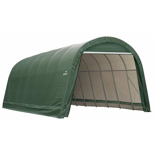 ShelterLogic 95351 Green 14'x20'x12' Peak Style Shelter [Green, 14'x20'x12']