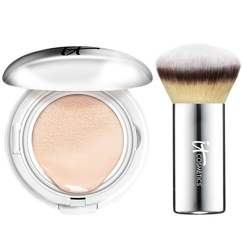 IT Cosmetics CC Veil SPF 50 Foundation Cushion Compact with Brush