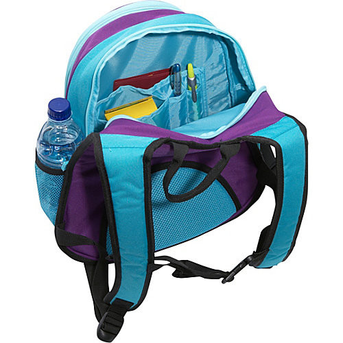 Obersee Kids Luggage and Backpack with Integrated Cooler, Turquoise Butterfly [Turquoise Butterfly]