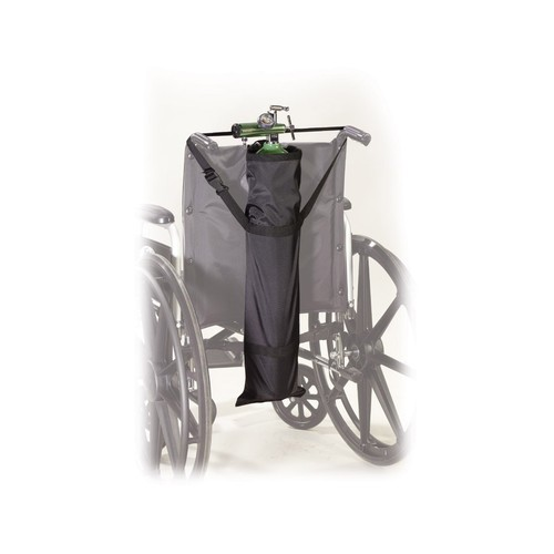 Drive Medical Deluxe Wheelchair Carry Pouch for Oxygen Cylinders, Black, 26 1/2