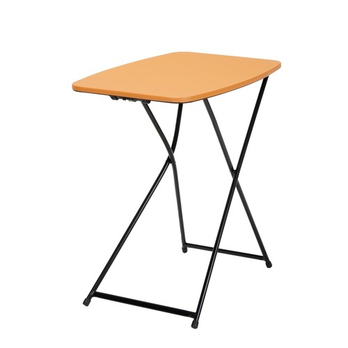 Cosco Home and Office Products 18 x 26u0026#8221; Orange Adjustable Height Personal Folding Tailgate Table, 2 Pack
