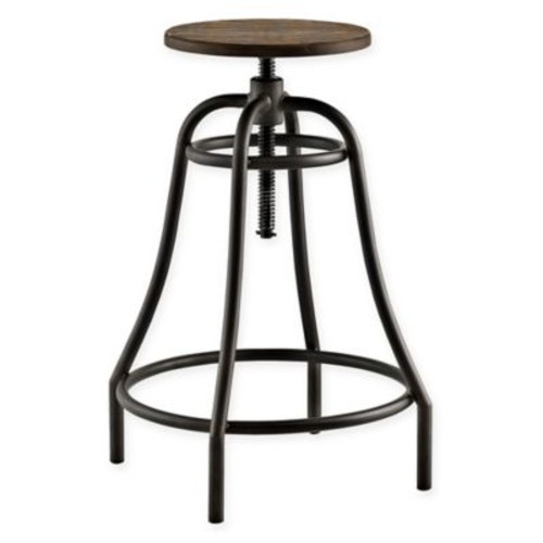 Modway Toll Bar Stool in Brown