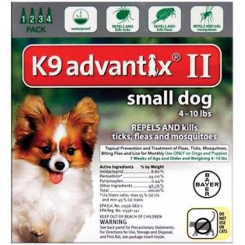 Bayer 81520348-AXG K9 Advantix II Flea & Tick Drops, 0.056 Oz