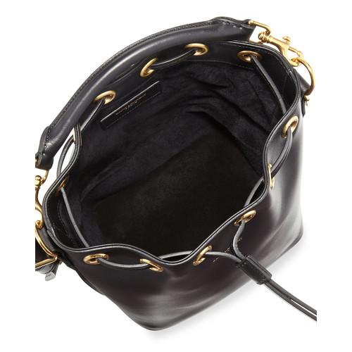 SAINT LAURENT Small Bucket Crossbody Bag, Black
