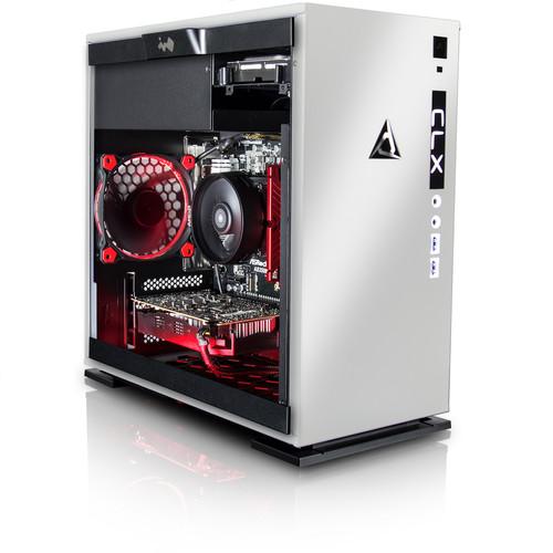 CybertronPC TGASETGXE7603WR CLX SET Gaming PC-AMD Ryzen 7 1700 3.0GHz, 16GB DDR4, GeForce GTX 1080, 120GB SSD, 1TB HDD, Win 10 Home