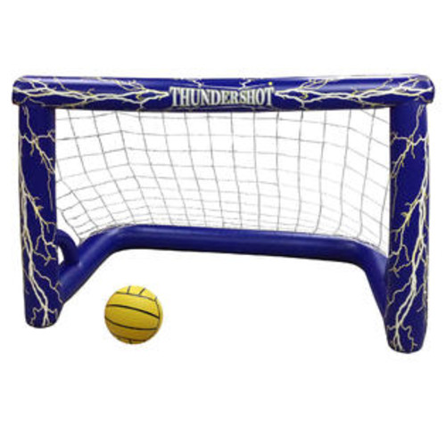 Blue Wave Thunder-shot Water Polo Pool Game w Goal, Micro-Textile Net & Ball