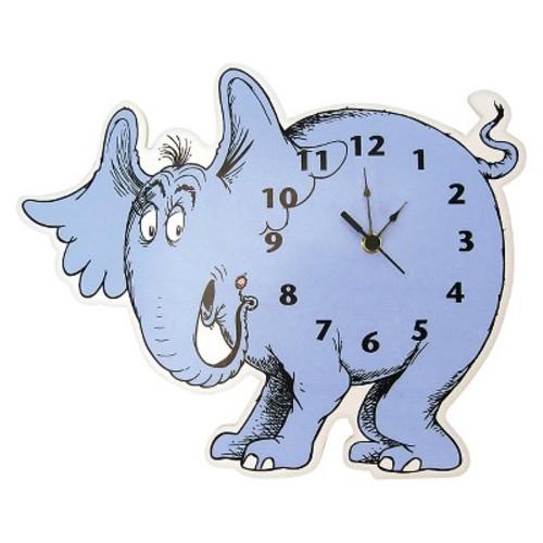 Dr. Seuss Horton Hears a Who Wall Clock Blue - Trend Lab