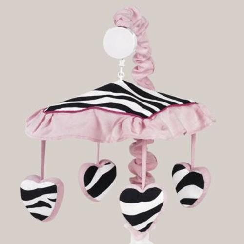 Sweet Jojo Designs Zebra Pink Collection Musical Mobile