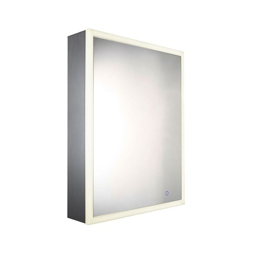 Whitehaus Collection Musichaus 21-1/2 in. W x 27-1/2 in. H x 5 in. D Surface-Mount Medicine Cabinet in Anodized Aluminum