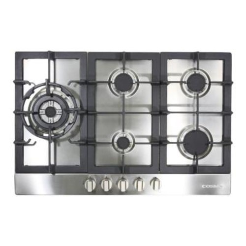 Cosmo 34 in. Gas Cooktop in Stainless Steel with 5 Sealed Brass Burners including 16000 BTU Jet Nozzle Burner