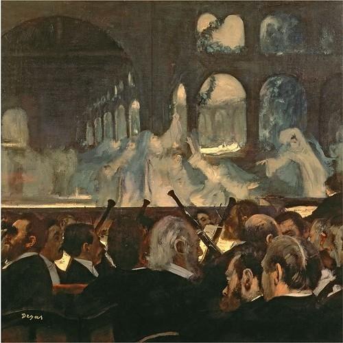Trademark Art - The Ballet Scene from Meyerbeer's Opera, Robert le Diable by Edgar Degas - Brown