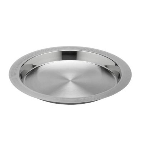 Kraftware Groove 14 in. Polished Stainless Serving Tray