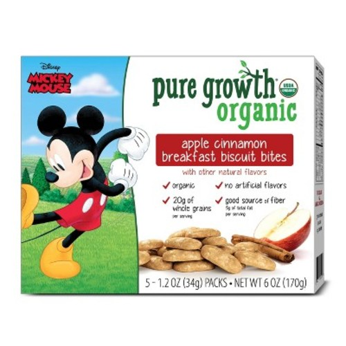 Pure Growth Organic Apple Cinnamon Breakfast Biscuit Bites - 6oz