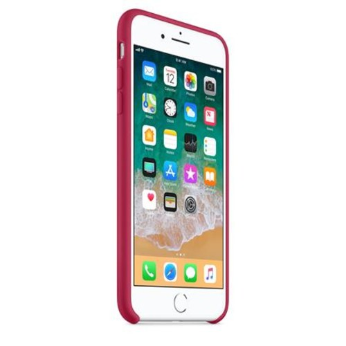 Apple Silicone Case for iPhone 8 Plus / 7 Plus - Rose Red
