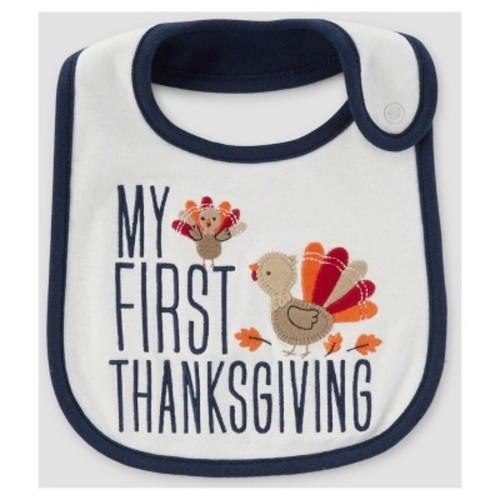 Baby My First Thanksgiving Bib - Just One You Made by Carter's White