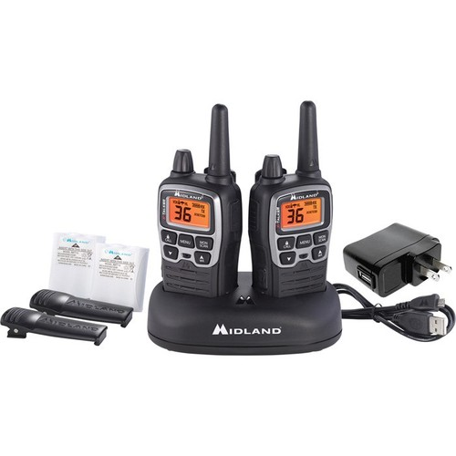 Midland X-Talker 2-Way Radio Kit  Pair, 38-Mile Range, Model# T77VP5