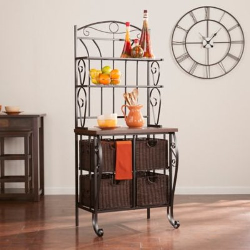 Southern Enterprises Baker's Rack in Black