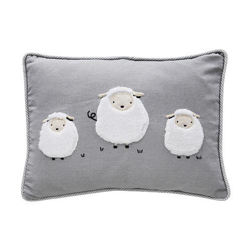 Lambs & Ivy(R) Signature Goodnight Sheep Gray/White Sheep Decorative Pillow