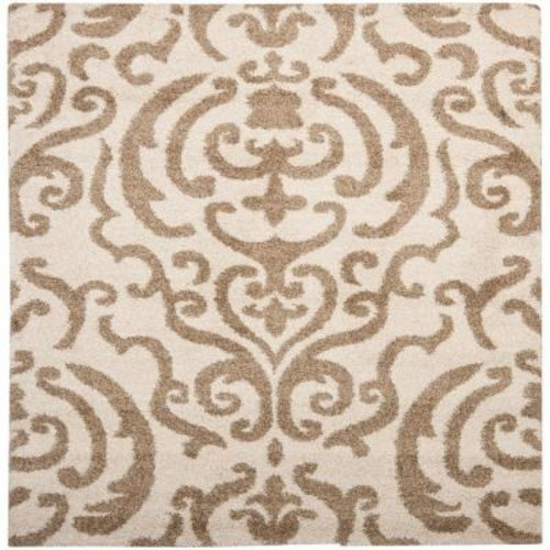 Safavieh Florida Shag Cream/Beige 6 ft. 7 in. x 6 ft. 7 in. Square Area Rug