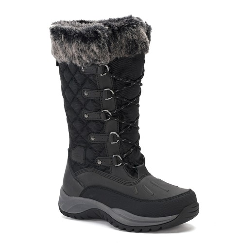 White Mountain Discovery Womens Black Suede Winter Boots