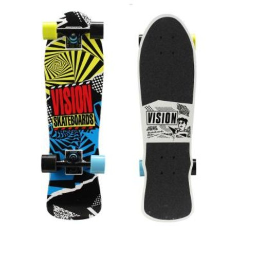 Vision 28 in. Mini Cruiser Skateboard in Hot Mess Graphic